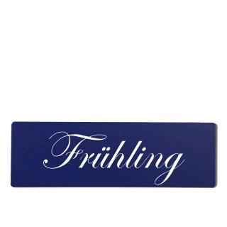 Frühling Dekoschild Türschild hellblau zum kleben