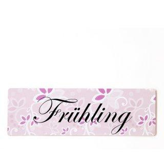 Frühling Dekoschild Türschild rosa zum kleben