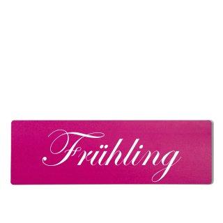 Frühling Dekoschild Türschild pink zum kleben