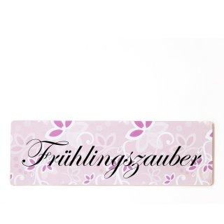 Frühlingszauber Dekoschild Türschild rosa zum kleben