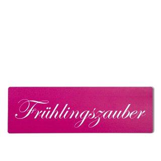 Frühlingszauber Dekoschild Türschild pink zum kleben