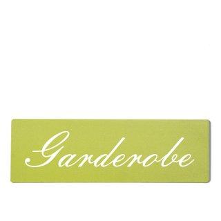 Garderobe Dekoschild Türschild grün zum kleben