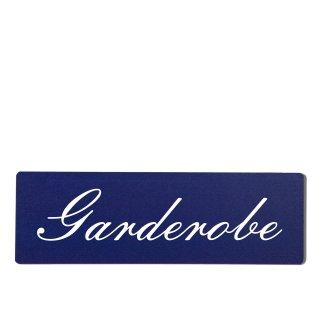 Garderobe Dekoschild Türschild hellblau zum kleben