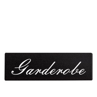Garderobe Dekoschild Türschild schwarz zum kleben