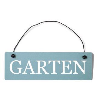 Garten Dekoschild Türschild gelb mit Draht