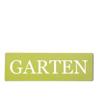 Garten Dekoschild Türschild grün zum kleben