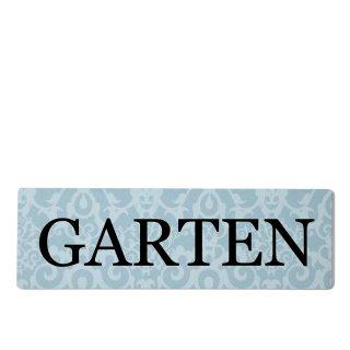 Garten Dekoschild Türschild blau zum kleben