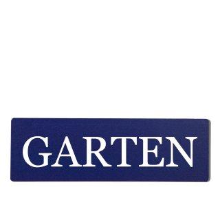 Garten Dekoschild Türschild hellblau zum kleben