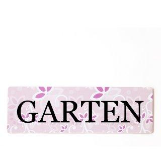 Garten Dekoschild Türschild rosa zum kleben
