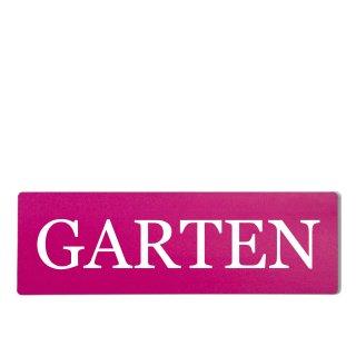 Garten Dekoschild Türschild pink zum kleben