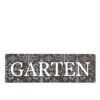 Garten Dekoschild Türschild lila zum kleben