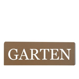 Garten Dekoschild Türschild braun zum kleben