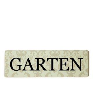 Garten Dekoschild Türschild beige zum kleben