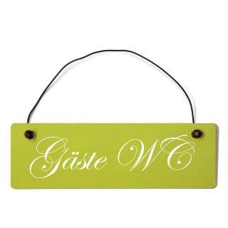Gäste WC Dekoschild Türschild grün mit Draht