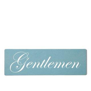 Gentleman Dekoschild Türschild gelb zum kleben