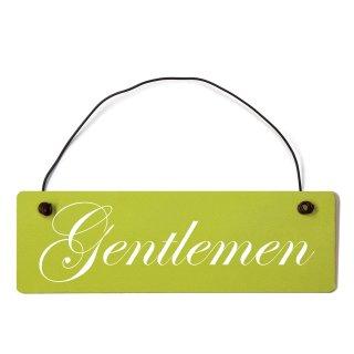 Gentleman Dekoschild Türschild grün mit Draht