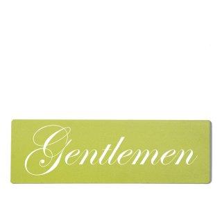 Gentleman Dekoschild Türschild grün zum kleben