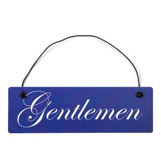 Gentleman Dekoschild Türschild hellblau mit Draht