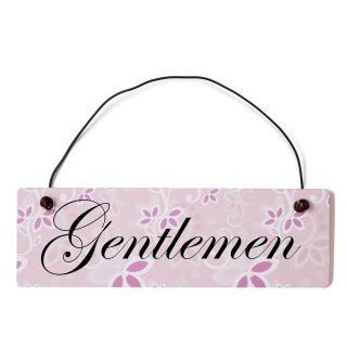 Gentleman Dekoschild Türschild rosa mit Draht