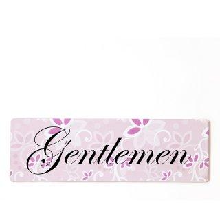 Gentleman Dekoschild Türschild rosa zum kleben