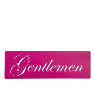 Gentleman Dekoschild Türschild pink zum kleben