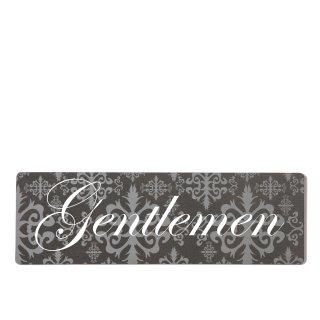 Gentleman Dekoschild Türschild lila zum kleben