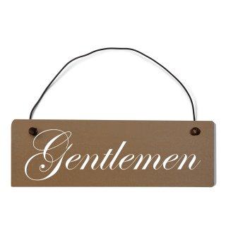 Gentleman Dekoschild Türschild braun mit Draht