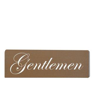 Gentleman Dekoschild Türschild braun zum kleben