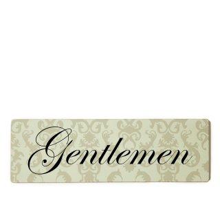 Gentleman Dekoschild Türschild beige zum kleben