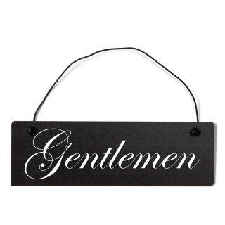 Gentleman Dekoschild Türschild schwarz mit Draht
