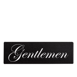 Gentleman Dekoschild Türschild schwarz zum kleben