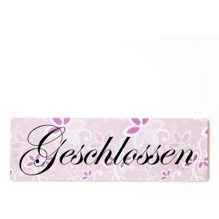 Geschlossen Dekoschild Türschild rosa zum kleben