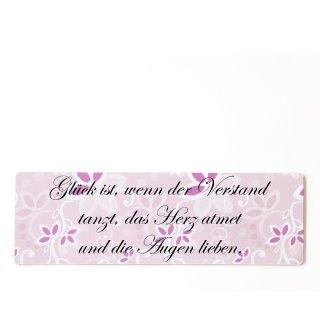 Glück ist wenn der Verstand tanzt das Herz atmet D... rosa zum kleben