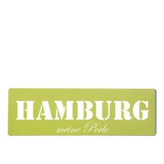 Hamburg Dekoschild Türschild grün zum kleben