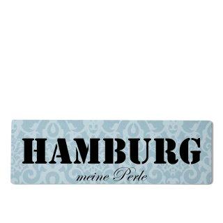 Hamburg Dekoschild Türschild blau zum kleben