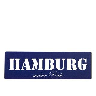 Hamburg Dekoschild Türschild hellblau zum kleben