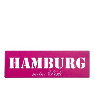 Hamburg Dekoschild Türschild pink zum kleben