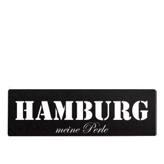 Hamburg Dekoschild Türschild schwarz zum kleben