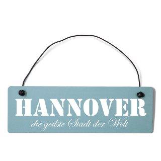 Hannover Dekoschild Türschild gelb mit Draht
