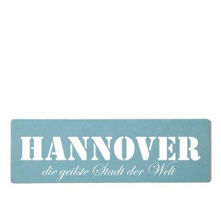 Hannover Dekoschild Türschild gelb zum kleben