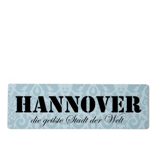 Hannover Dekoschild Türschild blau zum kleben