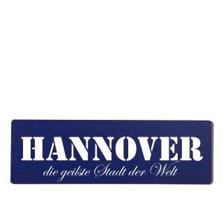 Hannover Dekoschild Türschild hellblau zum kleben