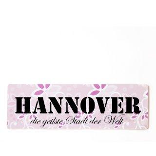 Hannover Dekoschild Türschild rosa zum kleben