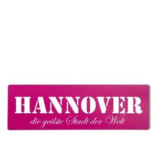 Hannover Dekoschild Türschild pink zum kleben