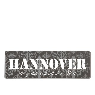 Hannover Dekoschild Türschild lila zum kleben