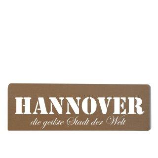 Hannover Dekoschild Türschild braun zum kleben
