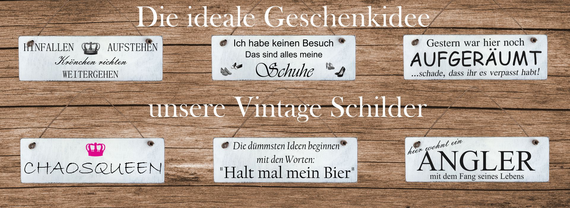 homeyourself shabby chic holzschilder vintage geschenkartikel. Black Bedroom Furniture Sets. Home Design Ideas
